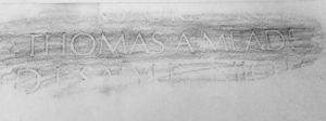 Tommy Meade Etching from Vietnam Memorial